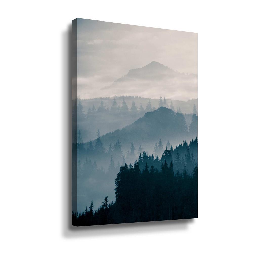 Artwall Blue Mountains I By Photoinc Studio Canvas Wall Art 5pst232a3248w The Home Depot