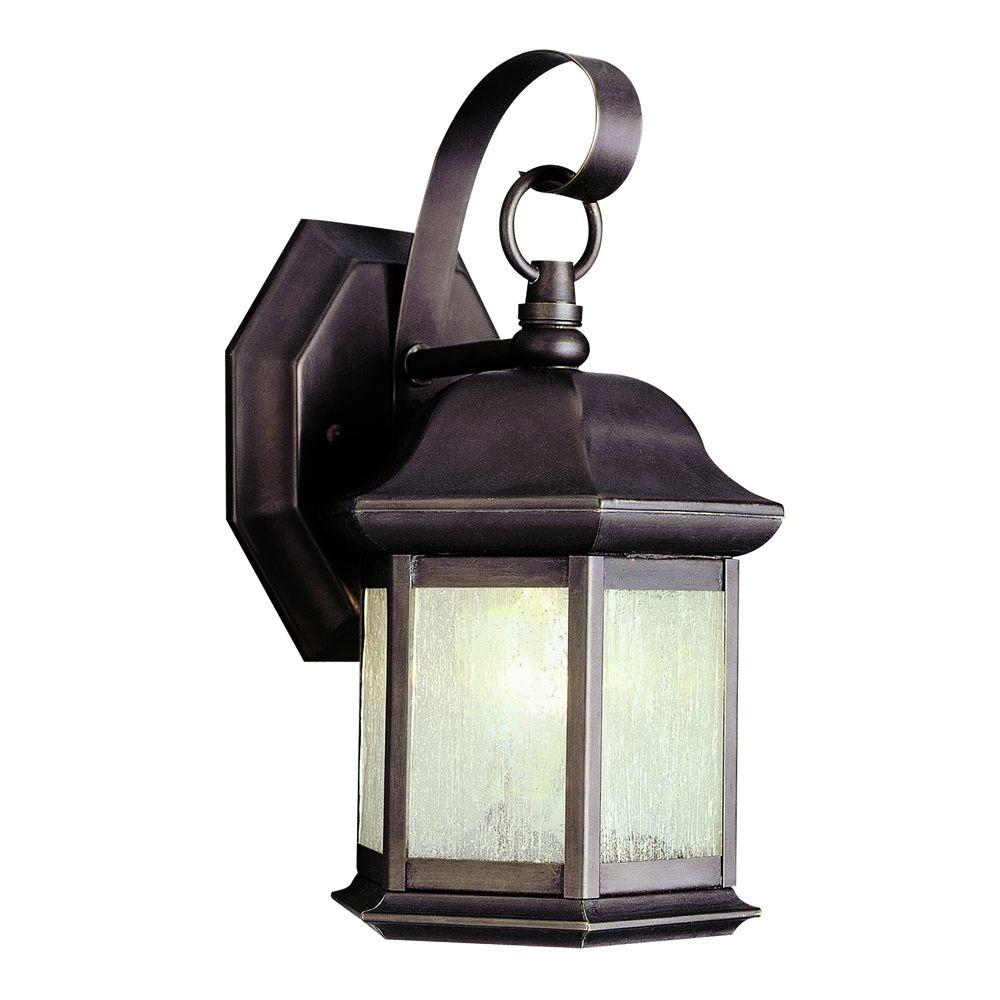 Stewart 1-Light Outdoor Weathered Bronze Incandescent Wall Light