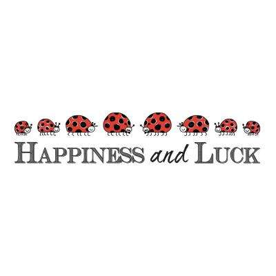 19.7 in. x 12.2 in. Happiness Wall Decal