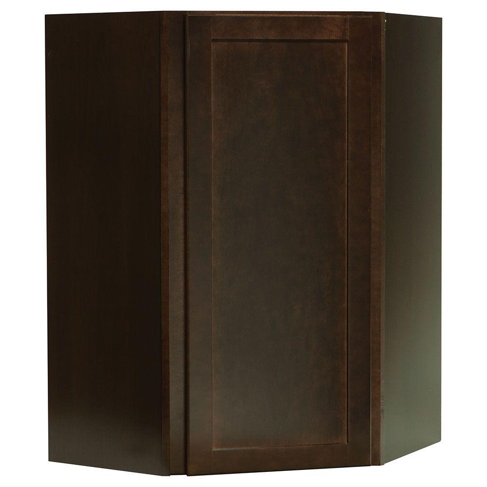 This Review Is From:Shaker Assembled 24x36x12 In. Diagonal Corner Wall Kitchen  Cabinet In Java