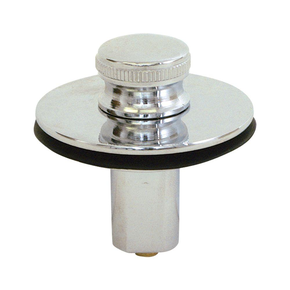 Push Pull Drain Stopper  Chrome. Watco Push Pull Bathtub Stopper with 3 8 in  to 5 16 in  Pin