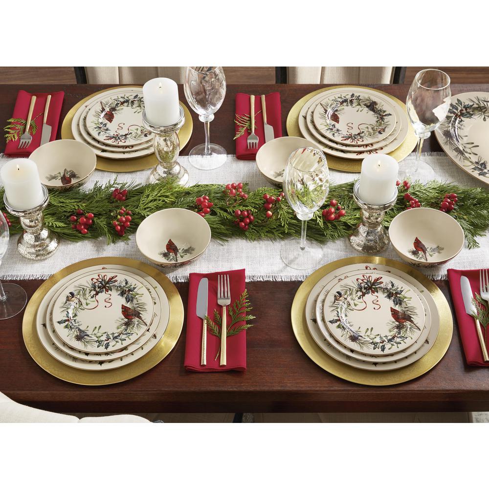 Winterberry 16-Piece Seasonal Assorted Stoneware Dinnerware Set (Set for 4)