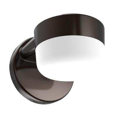 75-Watt Equivalent Integrated LED Bronze Wall Pack with 900 Lumens, Dusk to Dawn Outdoor Light for Entry and Patios