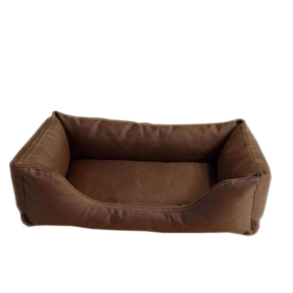 Carolina Pet Company Brutus Tuff Kuddle Medium Chocolate Lounge Bed