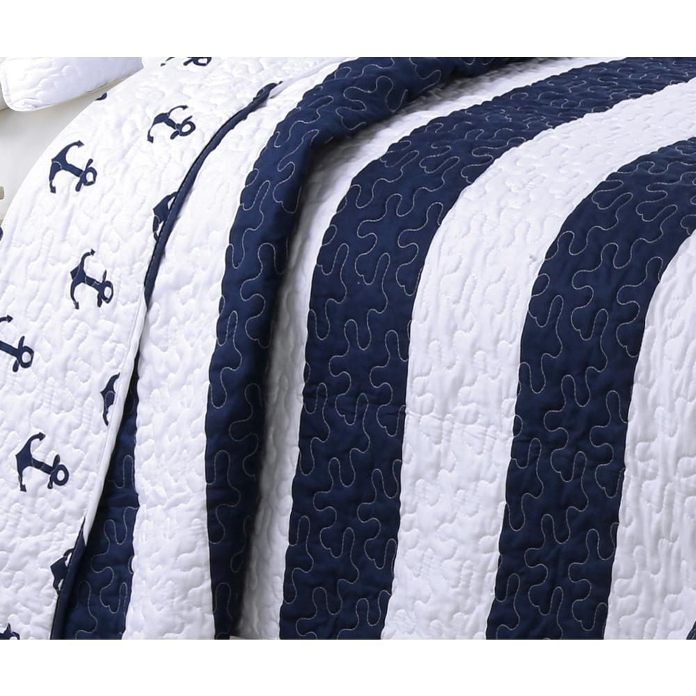 undefined Hallie Navy Twin Quilt Set