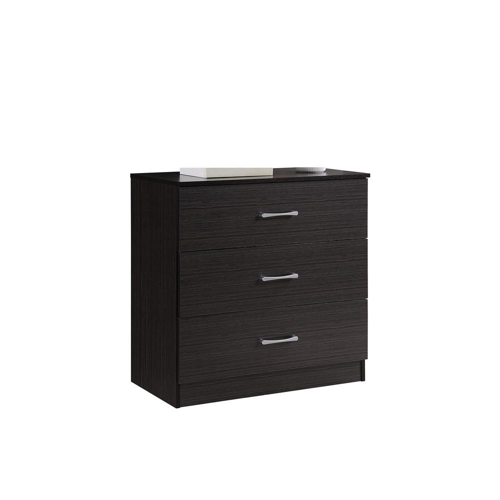 3-Drawer 30.6 in. H x 31.5 in. W x 15.5 in. D Chest in Chocolate