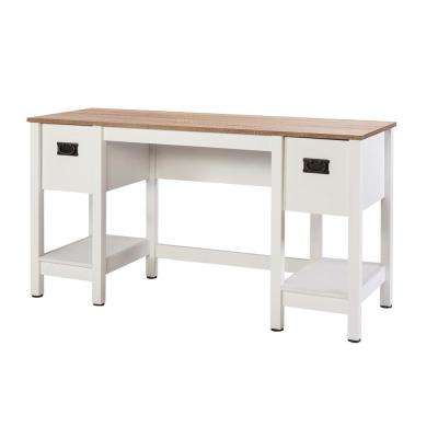 Magnolia Light Oak Writing Desk with Dual Drawers