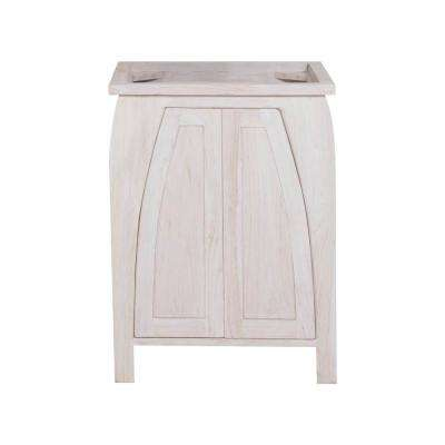 Tranquility 24 in. W Teak Vanity Bath Cabinet Only in Driftwood
