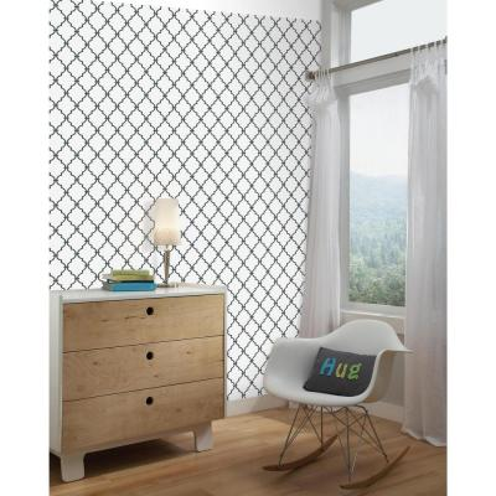 28.18 sq. ft. Trellis Peel and Stick Wallpaper