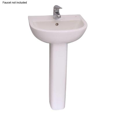 Washington 460 18 In Pedestal Combo Bathroom Sink In White 3 384wh
