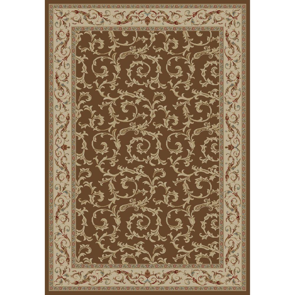 Concord Global Trading Jewel Veronica Brown 3 ft. 11 in. x 5 ft. 7 in. Area Rug