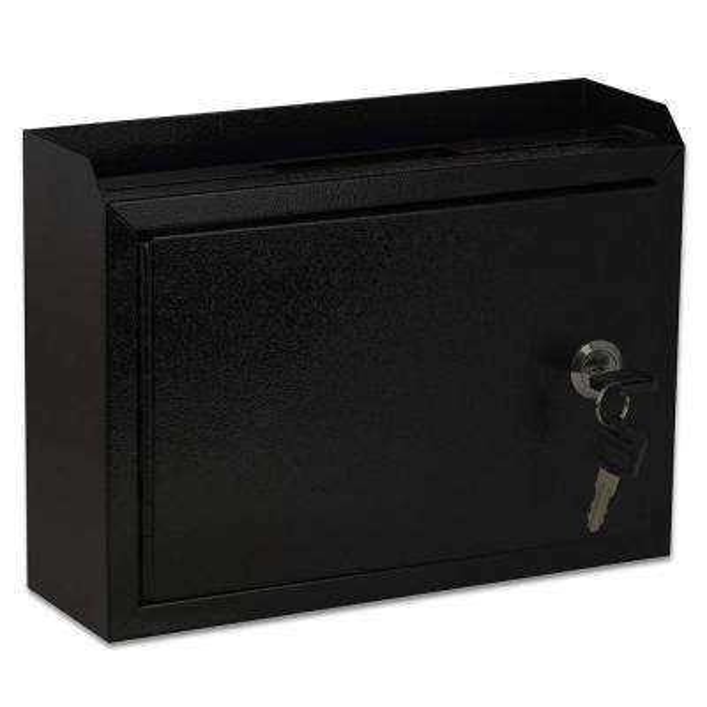 Medium Size Black Steel Multi-Purpose Suggestion Drop Box