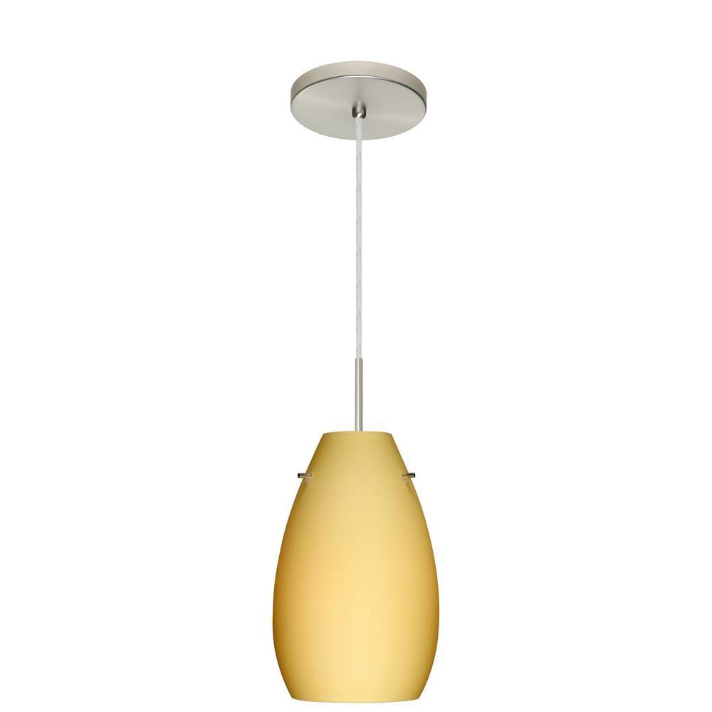 Filament Design 1-Light Satin Nickel Pendant