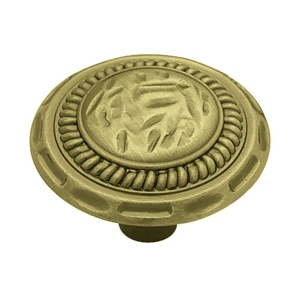 Liberty Sundial 1-3/8 in. (35mm) Antique Brass Round Cabinet Knob