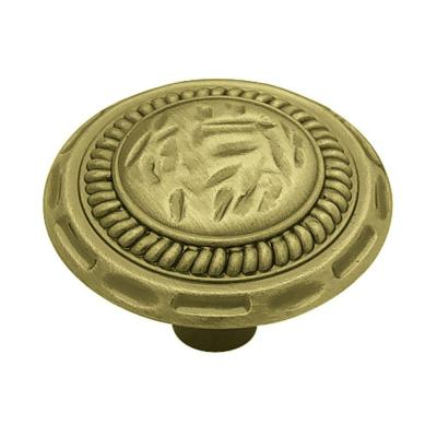 Sundial 1-3/8 in. (35mm) Antique Brass Round Cabinet Knob