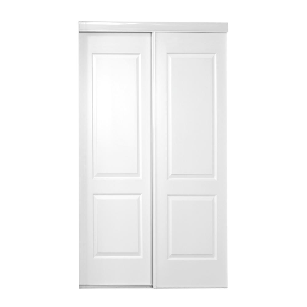 47 in. x 80 in. 108 Series Primed 2 Panel Square Top Design Primed  sc 1 st  The Home Depot & Sliding Doors - Interior u0026 Closet Doors - The Home Depot