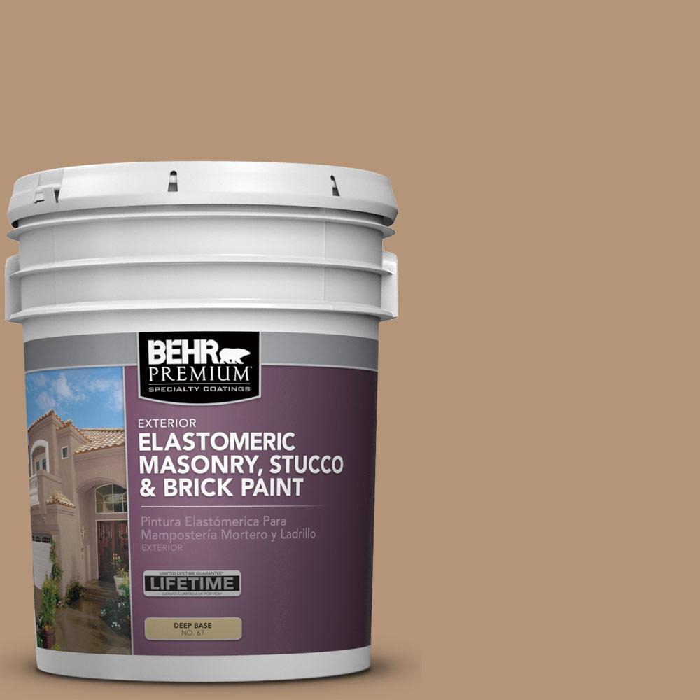 5 gal. #280F-4 Burnt Almond Elastomeric Masonry, Stucco and Brick Exterior Paint