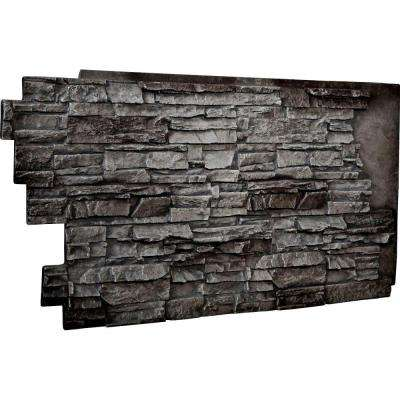1-1/2 in. x 48 in. x 25 in. Slate Urethane Stacked Stone Wall Panel