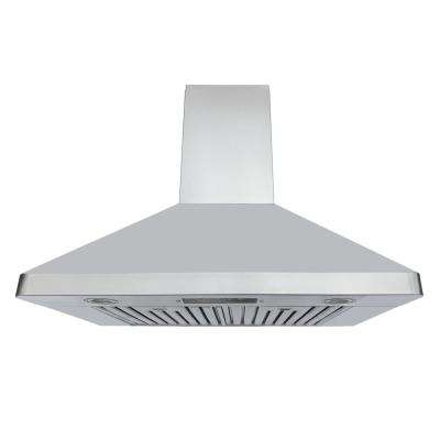680 CFM 36 in. Wall Mount Range Hood in Stainless Steel with QuietMode from the Brillia Collection