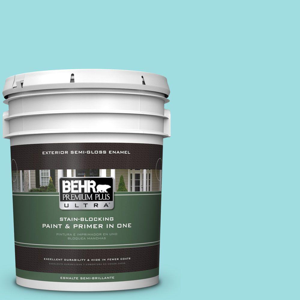 BEHR Premium Plus Ultra 5-gal. #P460-2 Tropical Waterfall Semi-Gloss Enamel Exterior Paint