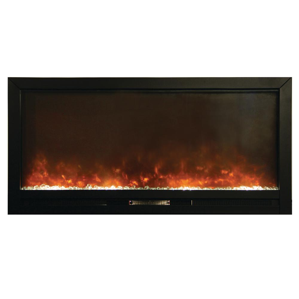 Beautifier 50 in. Recessed Electric Fireplace in Black