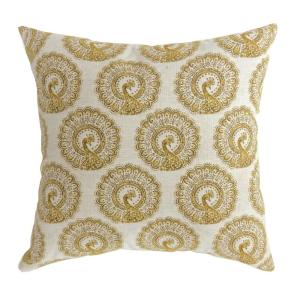 Fifi 18 In Contemporary Throw Pillow Yellow