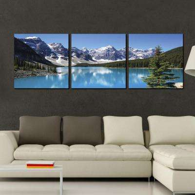 "24 in. x 72 in. ""Snow Lake"" Printed Wall Art"
