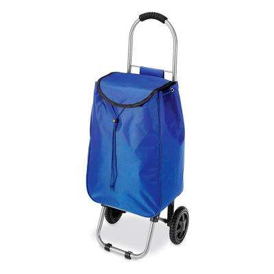 Utility Cart Collection 12.25 in. x 34 in. Rolling Bag Cart in Blue