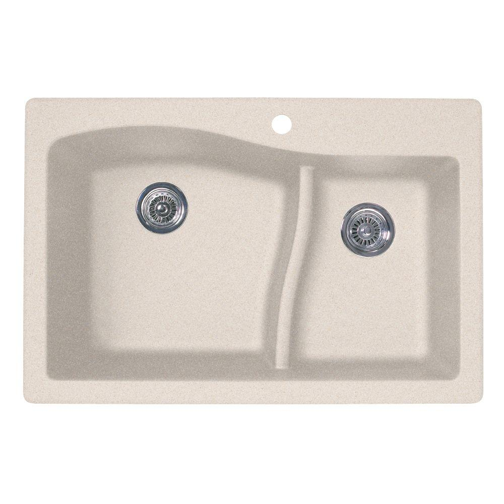 Swan drop inundermount granite 33 in 1 hole 6040 double bowl swan drop inundermount granite 33 in 1 hole 6040 workwithnaturefo