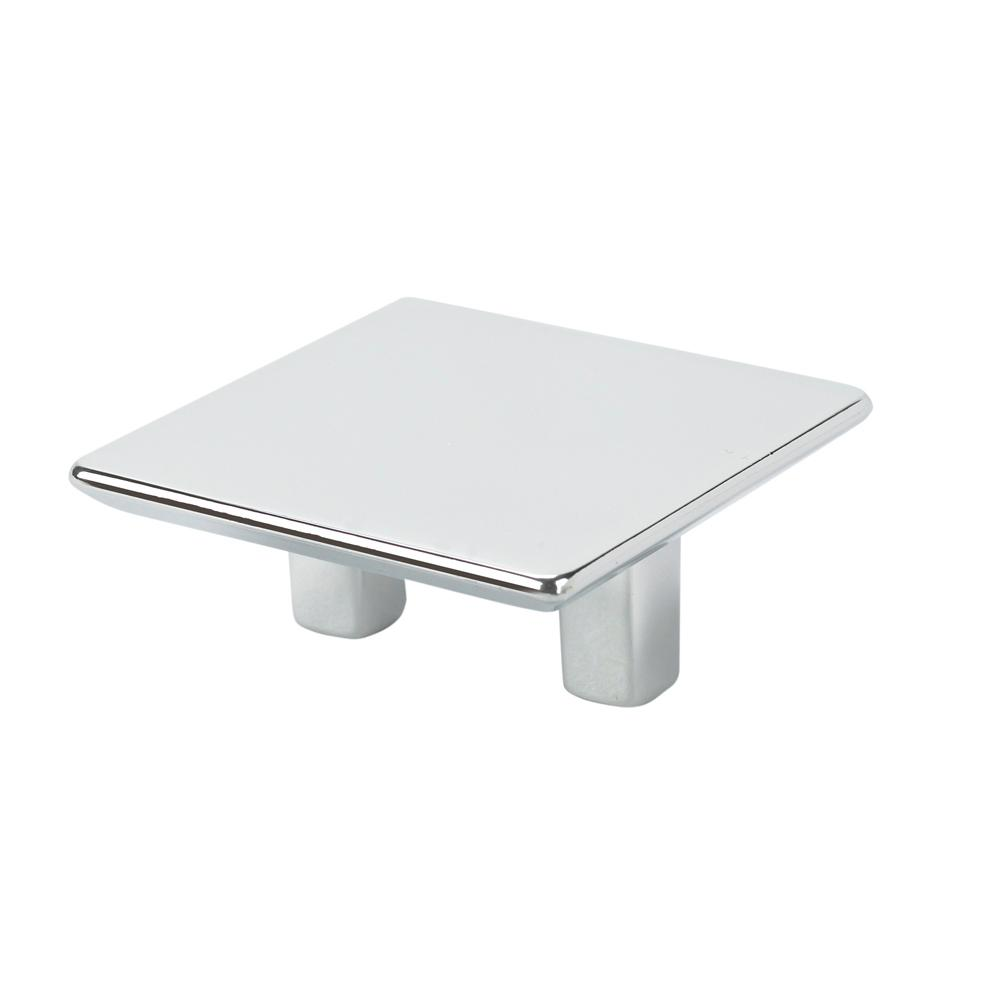 Italian Designs Collection 2.2 In. Chrome Square Cabinet Pull