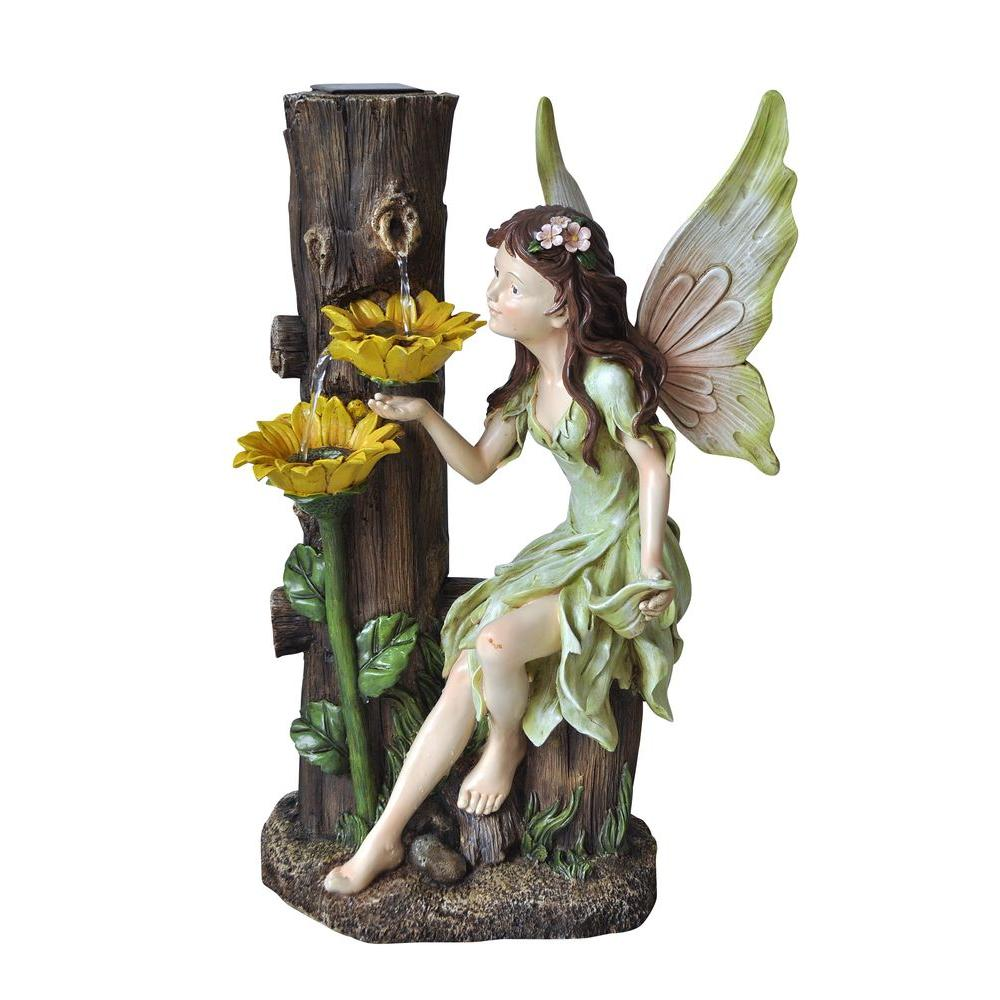 Alpine Solar Fairy Fountain Gzz560slr The Home Depot