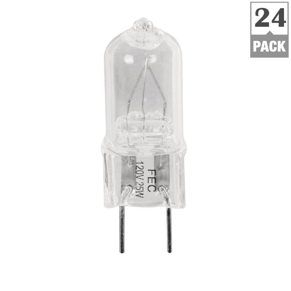 Feit Electric 25-Watt Halogen G8 Light Bulb (24-pack)