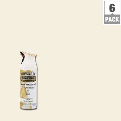 12 oz. All Surface Matte French Cream Spray Paint and Primer in One (6-Pack)