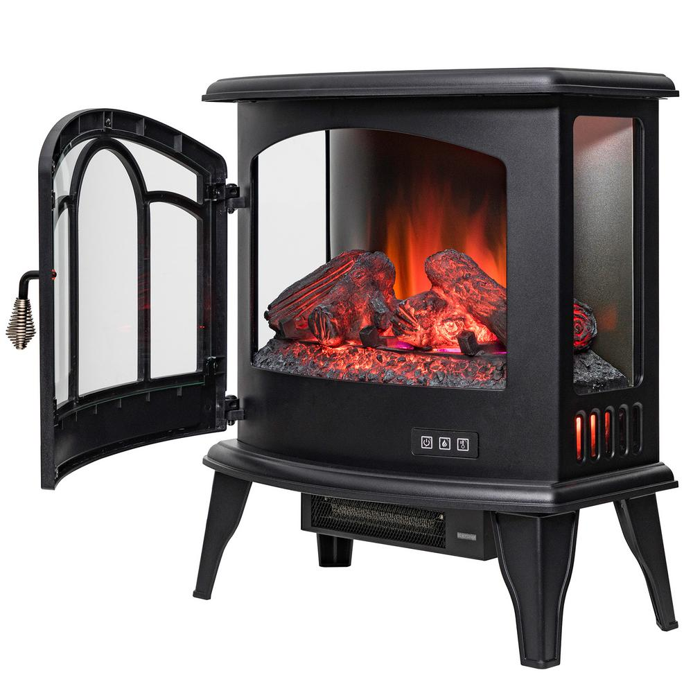 AKDY 20 in Freestanding Electric Fireplace Stove Heater