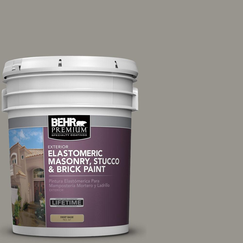5 gal. #N360-4 Battleship Gray Elastomeric Masonry, Stucco and Brick Exterior