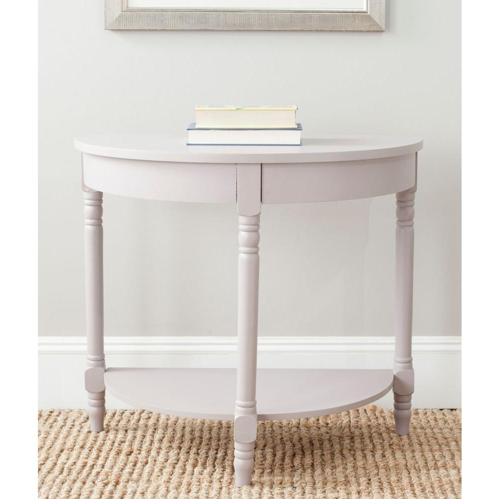 Safavieh hollis clear console table fox6013a the home depot randell quartz grey console table geotapseo Image collections