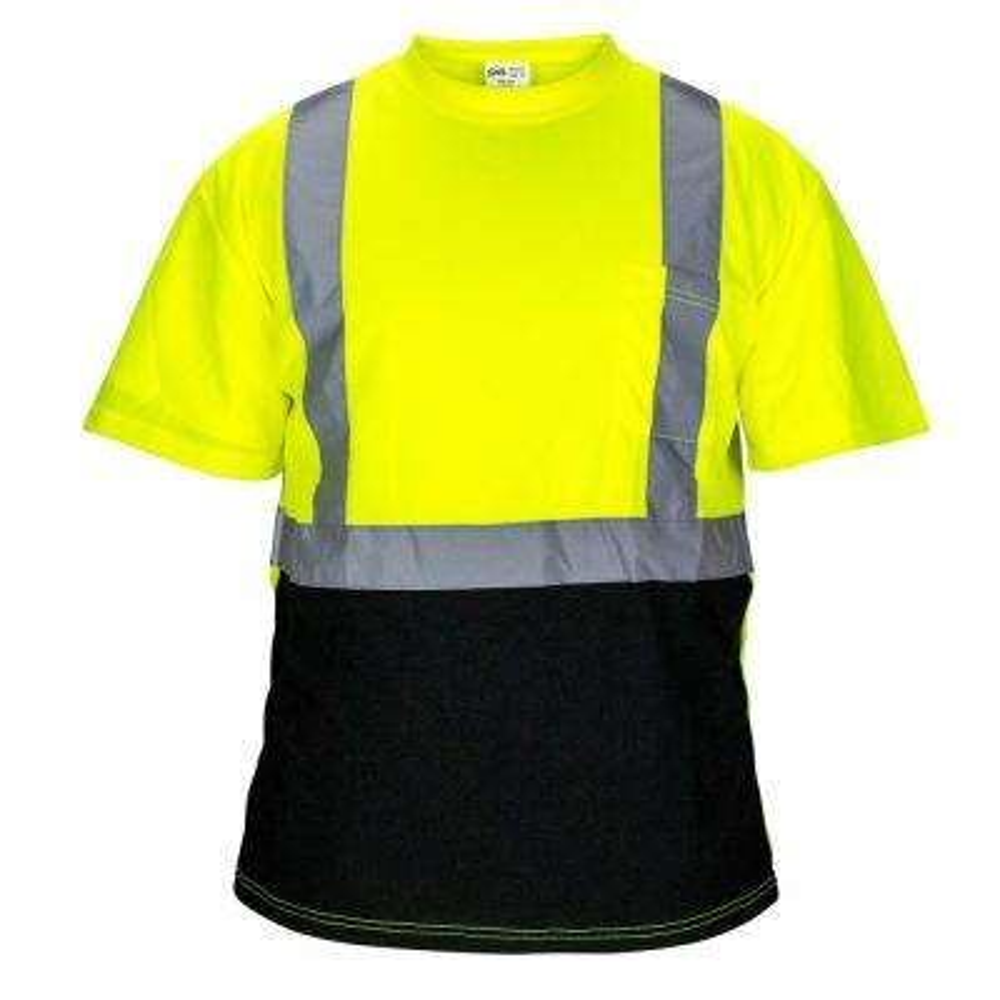 SAS Safety Large Class 2 Black Bottom T-Shirt