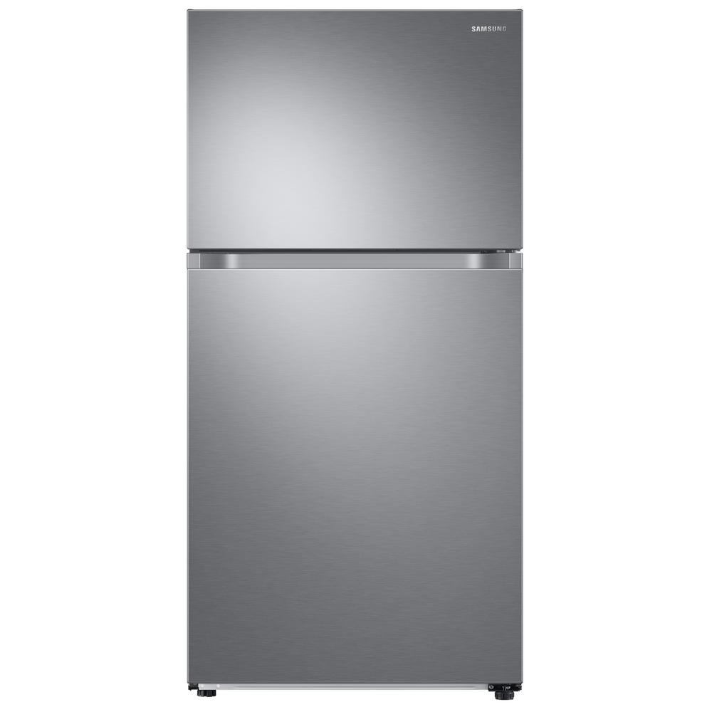 Samsung 21.1 cu. ft. Top Freezer Refrigerator with FlexZone Freezer in Stainless, Energy Star, Silver This Samsung Top Freezer Refrigerator truly is one of a kind and unlike any other. Featuring FlexZone, which is a versatile top door that can be a fridge or freezer, maximizing fresh food storage space. This allows you to expand your refrigerator space to chill your favorite beverages, snacks or party food. Unless you simply keep it as a freezer, but this is completely up to you. It also has Twin Cooling Plus, which maintains the humidity level of the refrigerator keeping foods fresher, longer. For example, dry freezer conditions for less freezer burn and better tasting foods. Ice maker available in model # RT18M6215SG. Color: Stainless Steel.