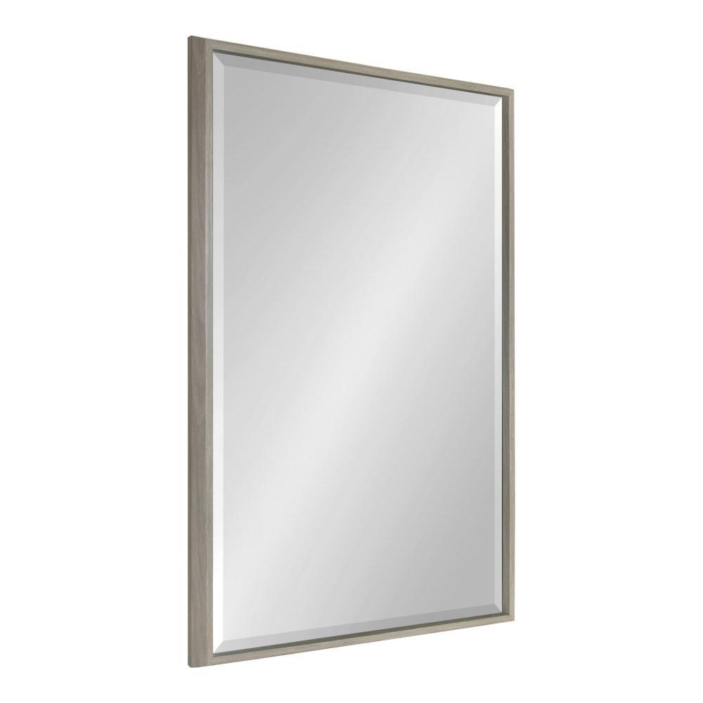 Kate and Laurel Blake Rectangle Gray Wall Mirror 214059