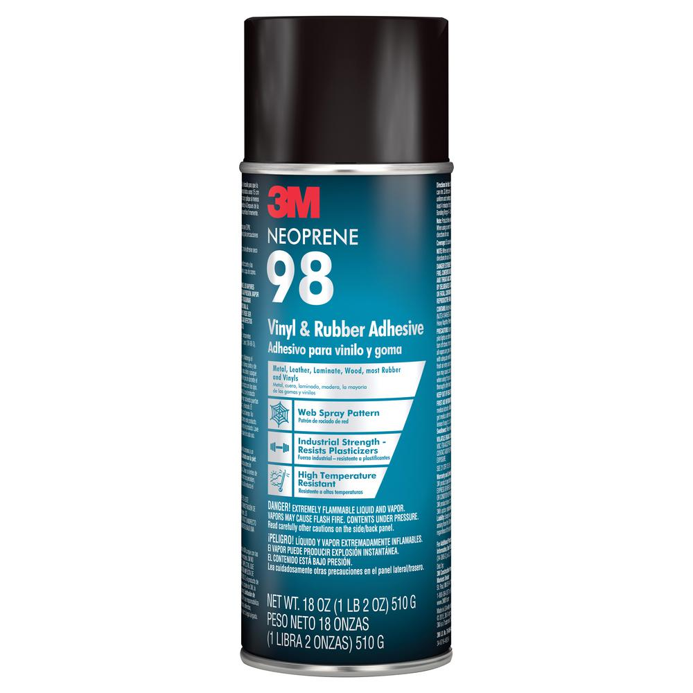 3m 18 Oz Neoprene 98 Rubber And Vinyl Spray Adhesive 98