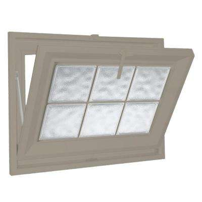 25 in. x 19 in. Acrylic Block Hopper Vinyl Window