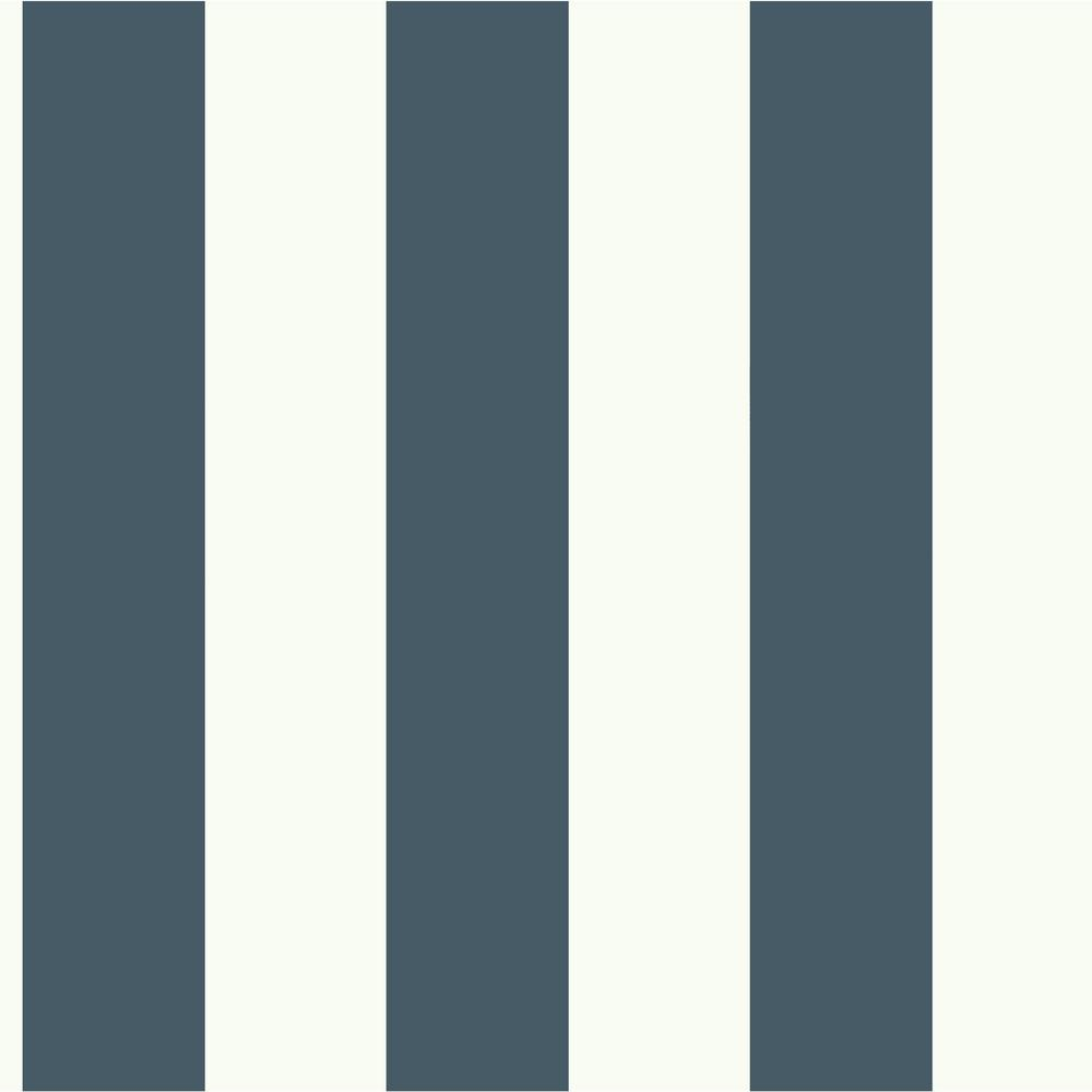Magnolia Home By Joanna Gaines 56 Sq Ft Dark Blue And White Awning Stripe