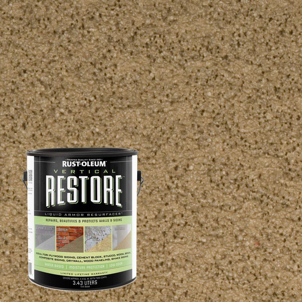 Rust-Oleum Restore 1-gal. River Rock Vertical Liquid Armor Resurfacer for Walls and Siding