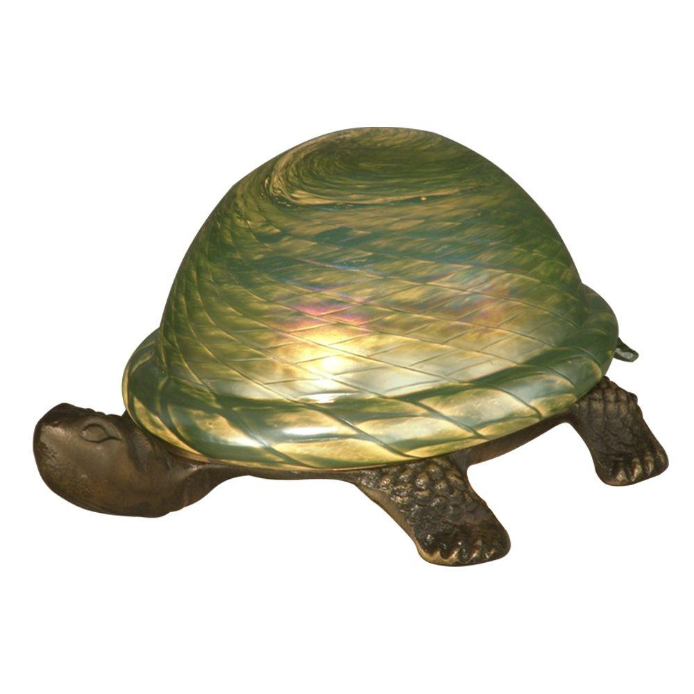 Dale Tiffany 1-Light Green Turtle Accent Lamp-DISCONTINUED