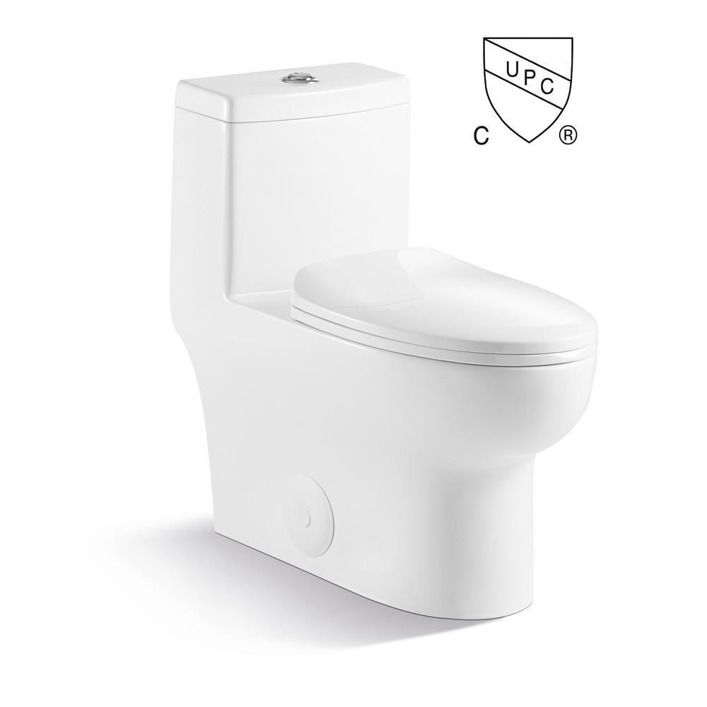 Pleasing Kingsman Hardware Kingsman Casa Max 1 Piece 1 2 1 6 Gpf Dual Flush Elongated Toilet In White Seat Included Lamtechconsult Wood Chair Design Ideas Lamtechconsultcom