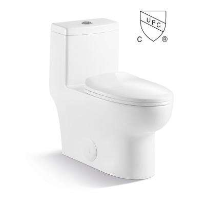 Kingsman Casa Max 1-Piece 1.2/1.6 GPF Dual Flush Elongated Toilet in White Seat Included