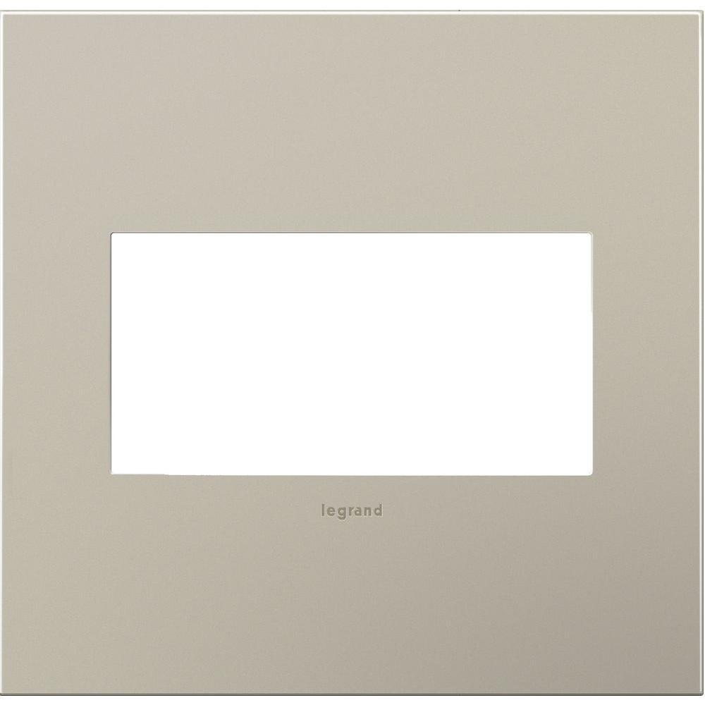 Legrand adorne 2-Gang 2 Module Wall Plate, Satin Nickel