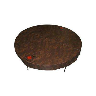 80 in. Round Hot Tub Cover with 5 in./3 in. Taper - Chestnut