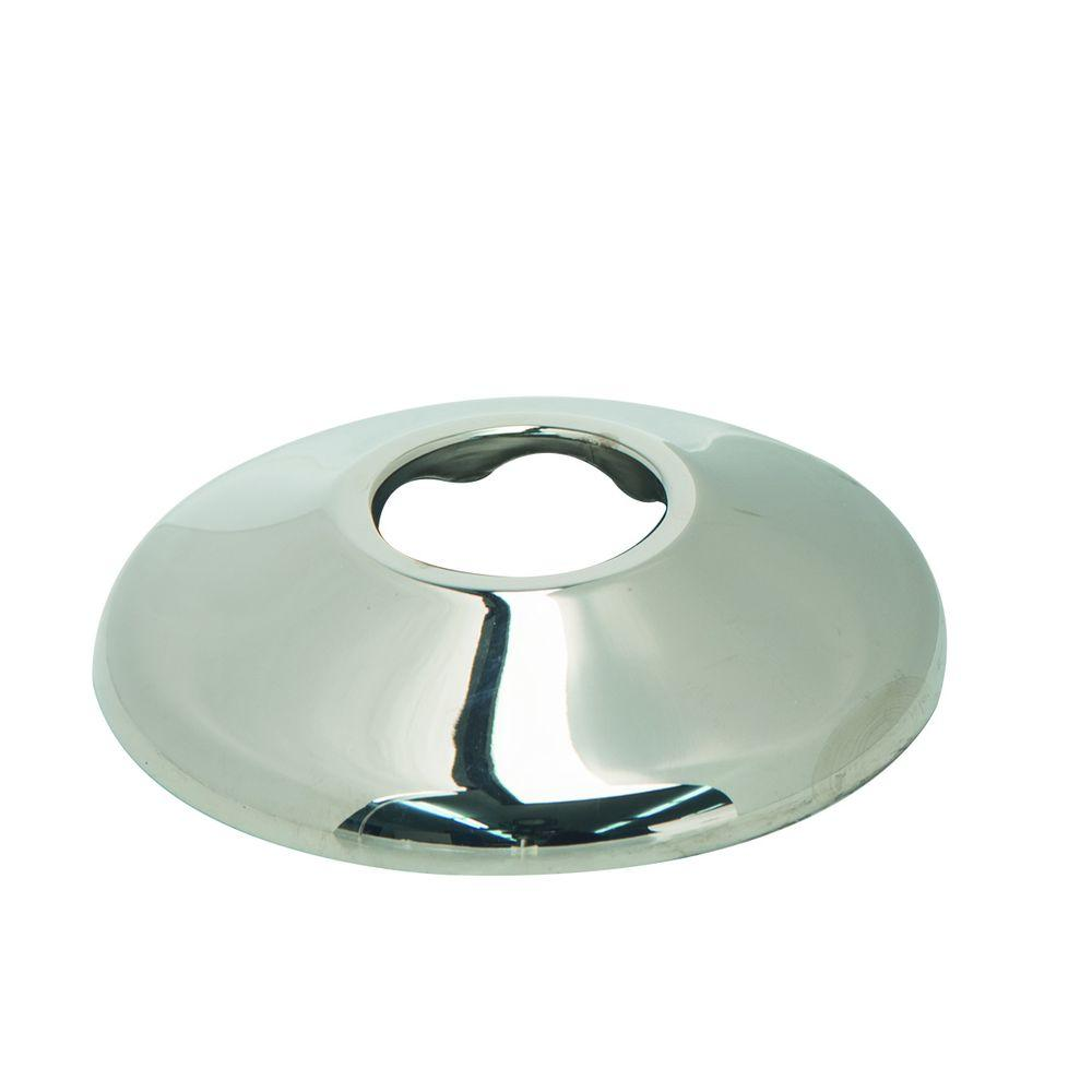 1/2 in. IPS Shallow Escutcheon in Polished Nickel