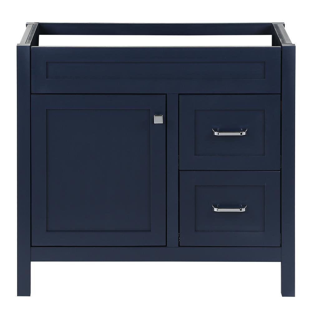 Maywell 36 in. W x 18.5 in. D x 34.4 in. H Bath Vanity Cabinet Only in Blue